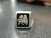 Black Stone Gent's Silver & Stone Ring 925 Silver 9.2g Size:8
